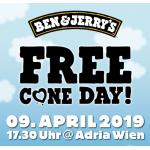Ben & Jerry's Eis GRATIS am 9.April 2019 ab 17:30 Uhr (Adria Wien)