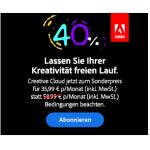 Adobe Creative Cloud um 35,99 € statt 59,99 € pro Monat – bis 27.8.