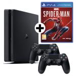Sony PS4 1TB Slim + 2 Controller + 3 Spiele um nur 351 € statt 440,52 €