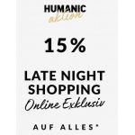 Humanic Onlineshop Late Night Shopping  – 15 % Rabatt auf ALLES