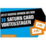 Saturn Card Vorteilstage – bis zu 50 € Rabatt bis 29.07.