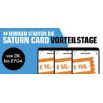 Saturn Card Vorteilstage – bis zu 150 € Rabattgutscheine bis 27.4.
