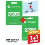 Xbox Live Gold 6 Monate um 19,99 € statt 36,28 € (Libro Filialen)