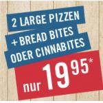 Domino's Pizza – 2 Large Pizzen + Bites um 19,95 € statt bis zu 32,75 €