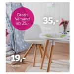 Kindersessel / Kindertisch um 19 € / 35 € als Mömax WE-Schnäppchen