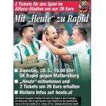 Rapid : Matterbsurg (28.05. um 19 Uhr) – 2 Karten – um 26 € statt 52 €