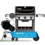 Weber Genesis II E-310 GBS Gasgrill+ Weber One-Touch Original 47cm Kohlegrill inkl. Versand um 759 € statt 988 €
