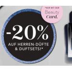 Douglas: 20% Rabatt auf Herrendüfte & Duftsets (mit der Beauty-Card)