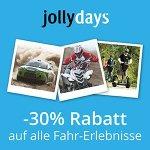 jollydays – 30% Rabatt auf alle Fahr-Erlebnisse (bis 25. Juni)