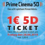 Prime Cinema 5D Kinoticket im Lugner Kino um 1 €