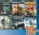 6 geniale / recht neue XBOX 360 /PS3 Games (z.B.: Portal 2, Duke Nukem Forever, Dead Space 2, …) um je 10€ @Saturn Gerngroß, Milleniumstower
