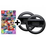 Nintendo Mario Kart 8 Deluxe + 2 Joy-Con Lenkräder um 50 € statt 59,45 €