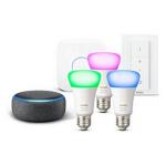 Amazon Echo Dot + Philips HUE Starter Set um 89,99 € statt 154,94 €