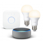 Echo Dot + Philips Hue White Starter Set um 54,99 € statt 95,49 €