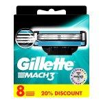 8 Stück Gillette Mach3 Rasierklingen um 10,70 € statt 19,99€