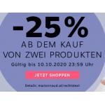 Marionnaud Onlineshop: 25% Rabatt (bei Kauf ab 2 Produkten)