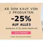 Marionnaud Onlineshop: 25% Rabatt (bei Kauf von 2 Produkten)