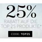Douglas.at – 25% Rabatt auf die Top 25 Produkte bis 12.8 um 9 Uhr