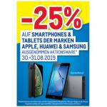 Metro – 25% Rabatt auf Smartphones & Tablets am 30. & 31.08.