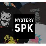 Mystery Geek T-Shirts, 5er-Pack inkl. Versand um 20,99 €
