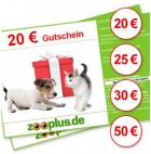 -19% auf Geschenkgutscheine (statt 125€ nur 101,25€ bezahlen) @Zooplus.de