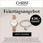 CHRIST – 20 € Rabatt auf reguläre Uhren & Schmuck (ab 99 € MBW)
