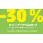 Penny – 30 % Rabatt auf Ostersüßwaren ab 3 Artikel (am 19. & 20.03.)