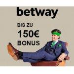 betway Neukunden – 100% Einzahlungsbonus bis 150€ & 20€ Amazon Gutschein Gratis (Mindesteinzahlung 20 €)