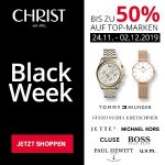 CHRIST Black Week: Bis zu 50 % Rabatt auf Uhren- & Schmuckhighlights