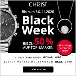 CHRIST Black Week: Bis zu 50 % Rabatt auf Uhren & Schmuck