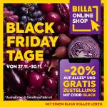 BILLA Onlineshop Black Friday – 20% auf alles* + kostenlose Lieferung!