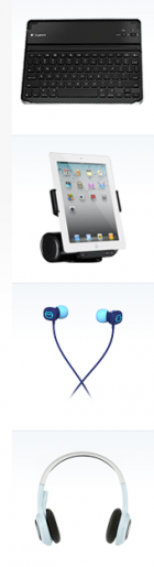 Genial: Logitech Keyboard Case & AV Stand für iPad 2 + Wireless Headset + UE Earphones 100 um nur 104€ @Logitech