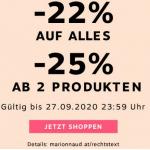 Marionnaud.at – 22% Rabatt auf fast ALLES / 25% Rabatt ab 2 Artikel