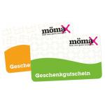 Mömax: 10 € Gutschein geschenkt beim Kauf von 100 € Gutscheinen