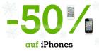 -50% auf alle iPhones bis 2.1.2012 + 100€ Guthaben bei Erstanmeldung @A1