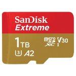 SanDisk Extreme 1TB microSDXC + SD-Adapter um 299 € statt 375,56 €