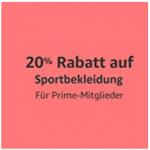20% Extra-Rabatt auf ausgewählte Sportbekleidung exklusiv für Prime