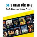 3 Filme (Blu-rays/DVDs) inkl. Versand um 10 € im Saturn Onlineshop