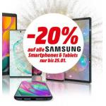 20% Rabatt auf Samsung Smartphones & Tablets bei MediaMarkt.at