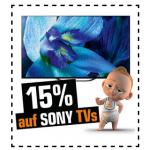 Saturn Prozenttage – 15% Rabatt auf Sony TVs, 20% auf Huawei u.v.m.