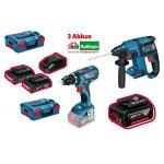 Bosch Professional Akku Set (Bohrschrauber + Bohr-/ Meißelhammer + 2x 3,0 Ah Akku + 6,0 Ah Akku + Ladegerät um 379 € statt 466,10 €