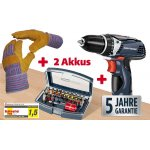 """Kraftronic """"KT-AS 12Li"""" Akku-Bohrschrauber (5 Jahre Garantie) + Bit-Set + Arbeitshandschuhe um 79 € statt 94,58 €"""