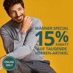 Peek & Cloppenburg – 15% Rabatt auf tausende Herrennartikel