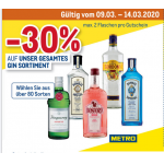 Metro – 30% Rabatt auf das gesamte Gin Sortiment von 9. – 14.3.2020