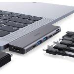 AUKEY USB C Hub Macbook Pro Adapter um 27,99 € statt 49,99 €