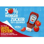 Heinz Tomato Ketchup 50% (weniger Zucker/Salz) GRATIS testen