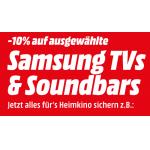 10% Rabatt auf Samsung TVs & Soundbars bei MediaMarkt.at bis 25.7.