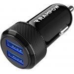 RAMPOW USB Kfz Ladegerät ( 24 W / 4,8A 2-Port) um 3,95 € statt 8,99 €