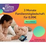 3 Monate FreeTime Unlimited Familienmitgliedschaft um 0,99 €