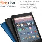 Fire HD 8-Tablet mit Alexa (8″, 32 GB, 8. Gen) um 70,58 € statt 109,99 €